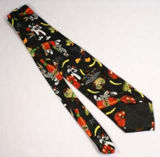 Looney Toons Cartoon Characters Hot Sauce Neck Tie