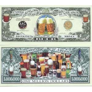 Set of 10 Bills Drinking Beer Money Million Dollar Bill Toys & Games