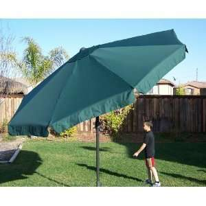 11 Foot Hunter Green Market Umbrella Large, Tilt and Crank