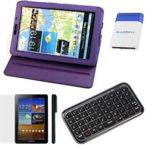 360 Degree Rotating Folio Leather Cover Case with Built in Stand + LCD