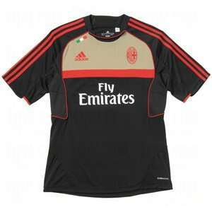 adidas Mens ClimaCool AC Milan Training Jersey Black/Red