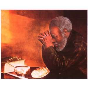 Grace Black African American Man Praying   Inspirational