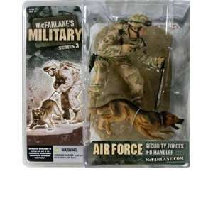 Air Force Security K 9 Handler (Caucasian) Action Figure: Toys & Games