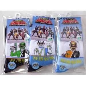 Power Rangers Socks X 3 Pairs Set  chidren socks Toys & Games