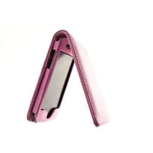 Apple iPod Touch 4 Top Flip Leather Case   Pink Cell Phones