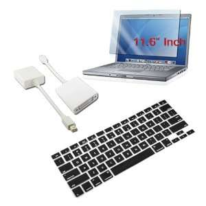 Premium Black Silicone Keyboard Cover + 11.6 inch Clear