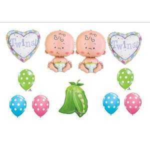Two Peas in a Pod Twin Baby shower Balloon Decorating Kit