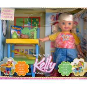 Barbie Kelly 15 Cuddly Soft Snack Time Doll w High Chair