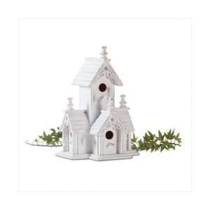 White Shabby Chic Victorian Birdhouse Bird House Wood