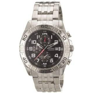 Estuche F16493/8 Silver Stainless Steel Quartz Watch with Black Dial