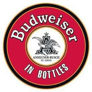 Budweiser Round in Bottles Metal Tin Sign Nostalgic