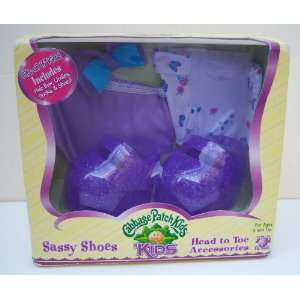 Cabbage Patch Kids Purple Fancy Feet Shoes and Head to Toe Accessories