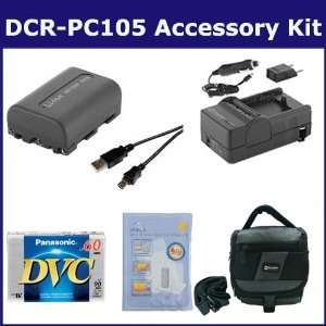 Camcorder Accessory Kit includes DVTAPE Tape/ Media, SDNPFM50 Battery