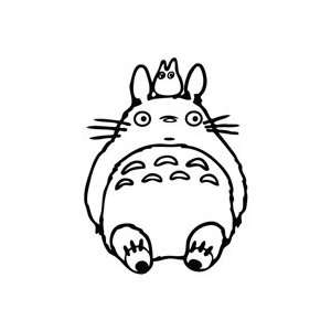 Totoro Sit   Cartoon Decal Vinyl Car Wall Laptop Cellphone