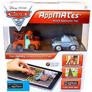 Disney Pixar Cars 2 AppMates Mobile Application Toys 2Pack Mater Finn