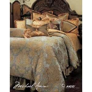 Elizabeth King 13 Piece Bedding Set by AICO   As Shown (BCS KS13