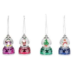 6 each Mr. Christmas Mini Musical Snow Globe Ornament 5