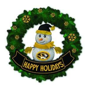 Tigers Lighted Snowman Artificial Christmas Wreath