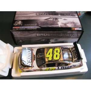 24 Jimmie Johnson #48 Lowes Brushed Metal 2010 Chevy Impala Hood