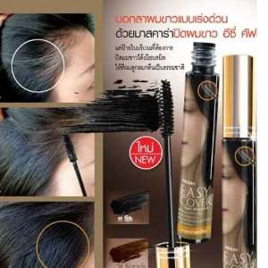 Easy Cover Gray Hair hair Mascara Natural Black / Dark Brown Coloring