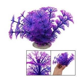 Purple Ridge Coral Cave with Plants Aquarium Ornament Pet Supplies