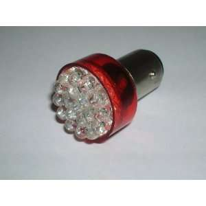 Sportiva Motors One Pair 1157 Red 19 LED Light bulbs   BA15D /12V Turn