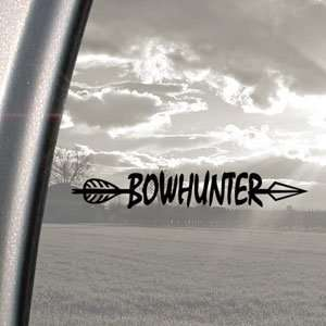 BowHunter Black Decal Bow Deer Hunter Hunting Car Sticker