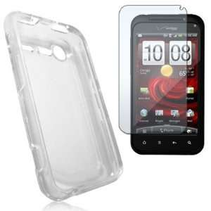 Clear Crystal Hard Plastic Skin Case Cover + Clear Screen Protector