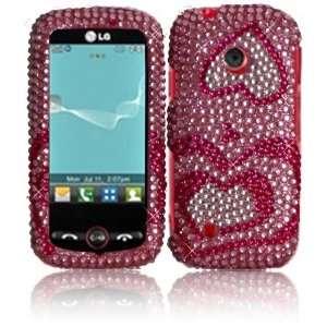 Diamond Bling Case Cover for LG Beacon MN270 Attune UN270 Exchange