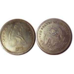 Replica U.S.Seated Liberty Dollar 1872 Extra Large