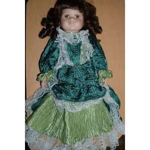 Collectible Fine Bisque Porcelain Doll with Stand Toys