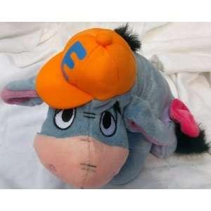 Winnie the Pooh Friend Eeyore in Orange E Hat Doll Toy Toys & Games