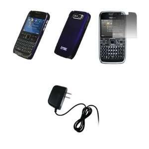 EMPIRE   Nokia E72   Premium Purple Rubberized Snap On Cover Hard Case