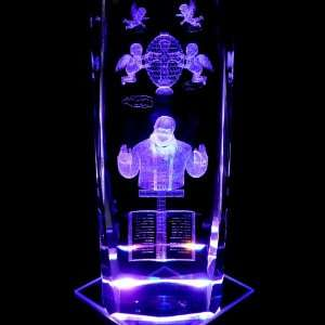 Angels Faberge Egg 3D Laser Etched Crystal includes Two Separate LEDs