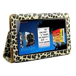 Leopard Design Portfolio Leather Case Cover for  Kindle Fire