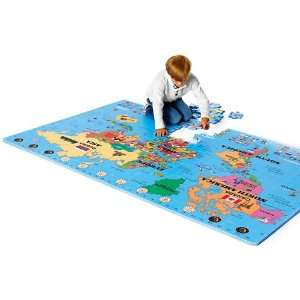 Giant World Map Floor Puzzle Toys & Games