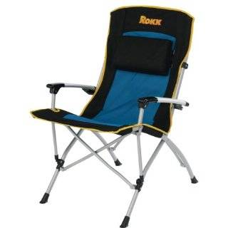 Rocky Oversize Folding Arm Chair with Padded Arm Rest and Carry Bag