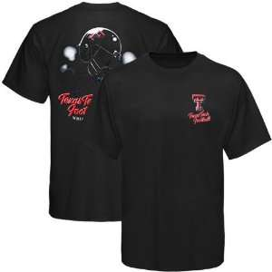 NCAA Texas Tech Red Raiders Black Helmet In Air T shirt