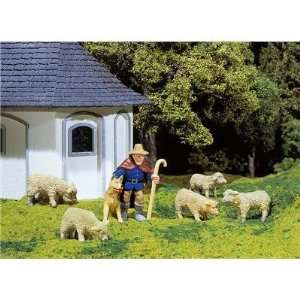 WITH SHEEP & DOG   POLA G SCALE MODEL TRAIN FIGURES 1874 Toys & Games