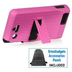 Platinum Rubber Case w/ Stand (Black / Hot Pink) for