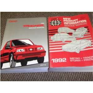 1992 Chevy Geo Tracker Service Shop Repair Manual SET OEM