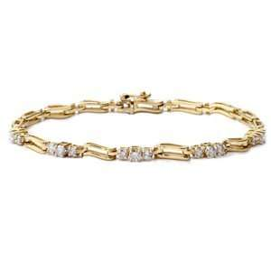14k Yellow Gold Diamond Tennis Bracelet (1.00 ctw) Jewelry