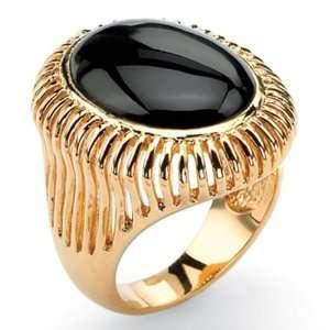 PalmBeach Jewelry 14k Gold Plated Onyx Ring Jewelry