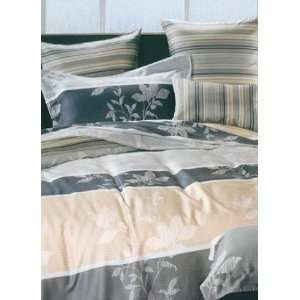 4 pc Fabulous Gray Floral Tencel Duvet Cover Bedding Set