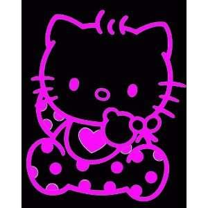 HELLO KITTY BABY  6 HOT PINK   Vinyl Decal Sticker   NOTEBOOK, LAPTOP