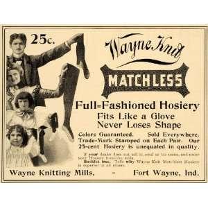 Ad Wayne Knitting MIlls Matchless Hosiery Socks   Original Print Ad