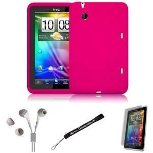 Pink Cover Protective Slim Durable Silicon Skin Case for HTC Flyer