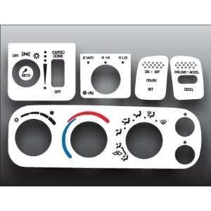 Dodge Ram White Heater Headlight Control Overlay HVAC A/C Automotive