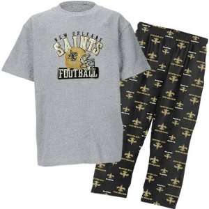 New Orleans Saints NFL Youth Short SS Tee & Printed Pant Combo Pack