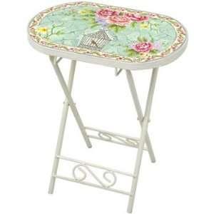 Birdcage and Flower Garden Table